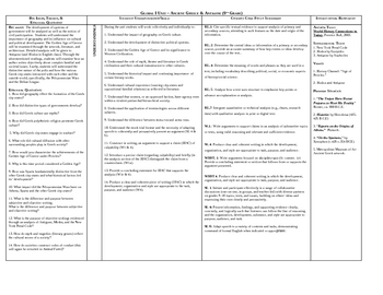 Detailed Ancient Greece Unit Map With Common Core Standards