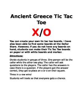 Ancient Greece Tic Tac Toe