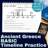 Ancient Greece Timeline Practice