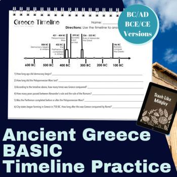 Ancient Greece Timeline Practice