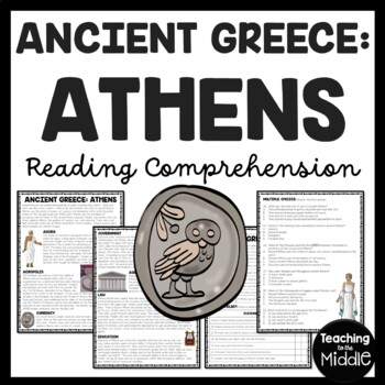 Ancient Greece: Athens Reading Comprehension Worksheet; Greek