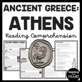 Ancient Greece Athens Reading Comprehension Informational Text Worksheet