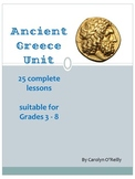 Ancient Greece Unit- 25 lessons including vocab, games, Gods, Olympics and more!