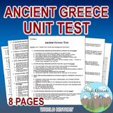 Ancient Greece Unit Test / Exam / Assessment (World History)