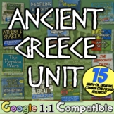 Ancient Greece Unit | 15 resources Athens, Sparta, Olympics | Distance Learning