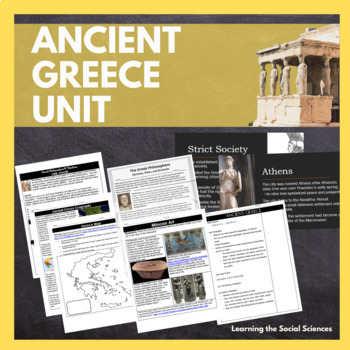Ancient Greece Unit Materials including PowerPoint, Note Sheets, Project, & More