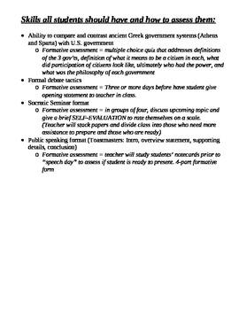 Ancient Greece Unit Overview