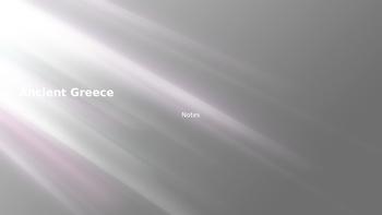 Ancient Greece Unit PowerPoint