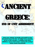 Ancient Greece Unit Test [Teacher Answer Key Provided]