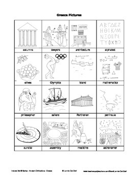 Ancient Greece Unit in Pictures for Special Ed., ELL and ESL Students