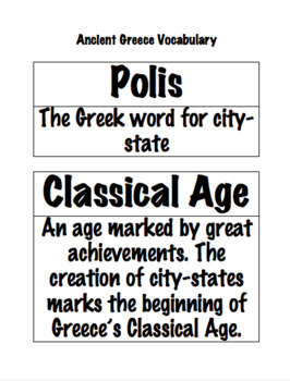 Ancient Greece Vocabulary