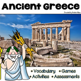 Ancient Greece Vocabulary, Assessments, Activities and Games