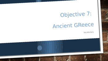 Ancient Greece Vocabulary PowerPoint