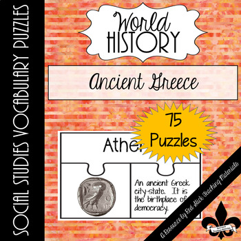 Ancient Greece Vocabulary Puzzles