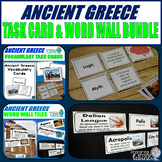 Ancient Greece Vocabulary Task Card & Word Wall Tile Bundle
