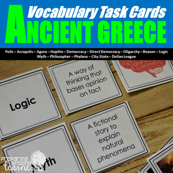 Ancient Greece Vocabulary Task Cards