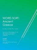 Ancient Greece Vocabulary Word Sort