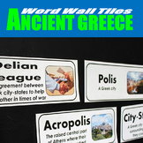 Ancient Greece Vocabulary Word Wall Tiles