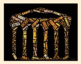 Ancient Greece Vocabulary image for Classroom Decoration Poster or Sign