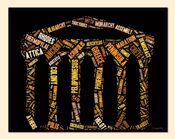 Ancient Greece Vocabulary image for Classroom Decoration P