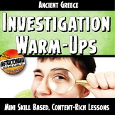 Ancient Greece Warm-Ups Skill Based, World History Mini Le