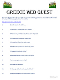 Ancient Greece Web Quest