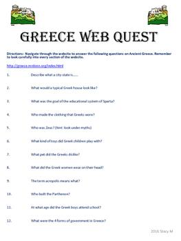 Ancient Greece Web Quest
