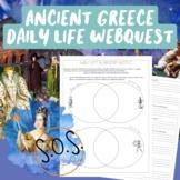 Ancient Greece Daily Life Webquest (Athens vs. Sparta)