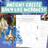 Ancient Greece Daily Life Webquest (Athens vs. Sparta)