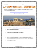 Ancient Greece - Webquest with Key (31 Questions on 2 Websites!)
