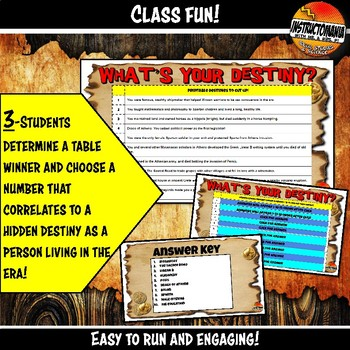 Ancient Greece What's Your Destiny Close Reading & Fun Comprehension Game
