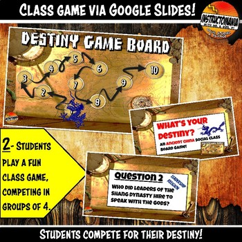 Ancient China What's Your Destiny Close Reading & Fun Comprehension Game