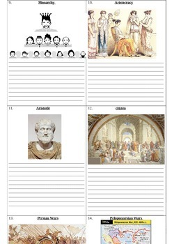 Ancient Greece: Who's Who and What's What Assignment