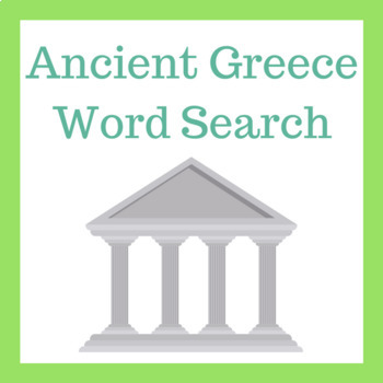 Ancient Greece Word Search