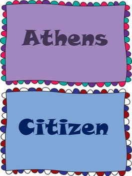 Ancient Greece Word Wall Set