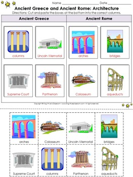 Ancient Greece and Ancient Rome: Contributions Cut and Paste #2 - Architecture