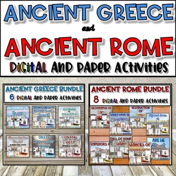 Ancient Greece and Ancient Rome Resource Bundle