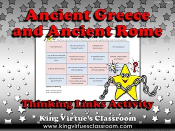 Ancient Greece and Ancient Rome Thinking Links Activity