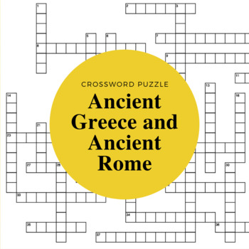 Ancient Greece and Rome Crossword Puzzle by All Things ...