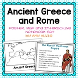 Ancient Greece and Rome Poster Map and Interactive Noteboo