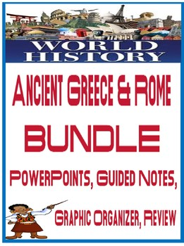 Ancient Greece and Rome lesson Bundle powerpoint fill in notes