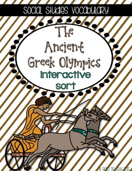 Ancient Greece and The Olympics {Interactive Vocabulary Sort}