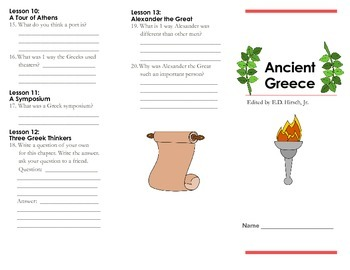 Ancient Greece by E.D. Hirsch Reading Guide