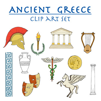 Ancient Greece clip art set