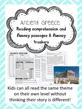 Ancient Greece fluency and comprehension leveled passage