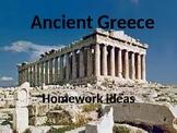 Ancient Greece homework ideas