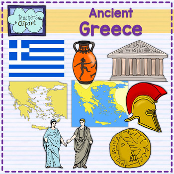 ancient greece map and art clipart by teacher s clipart tpt rh teacherspayteachers com ancient greek clip art ancient greece map clipart