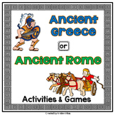 Ancient Greece and Ancient Rome: Activities and Games