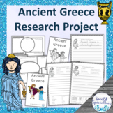 Ancient Greece research project with non-fiction emergent readers
