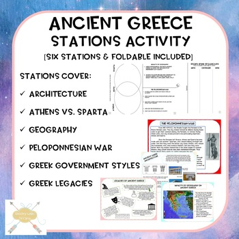 Ancient Greece stations activity with foldable! (ISN)